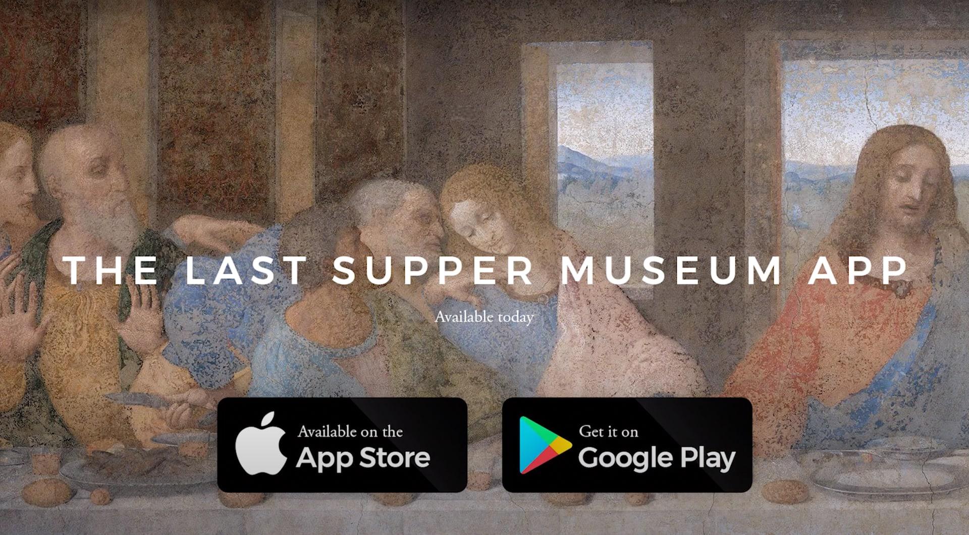 Schermata dell'app del Cenacolo Vinciniano