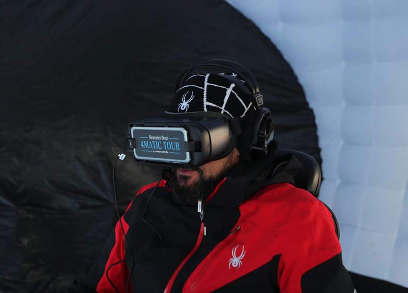 mercedes-benz skitour realtà virtuale