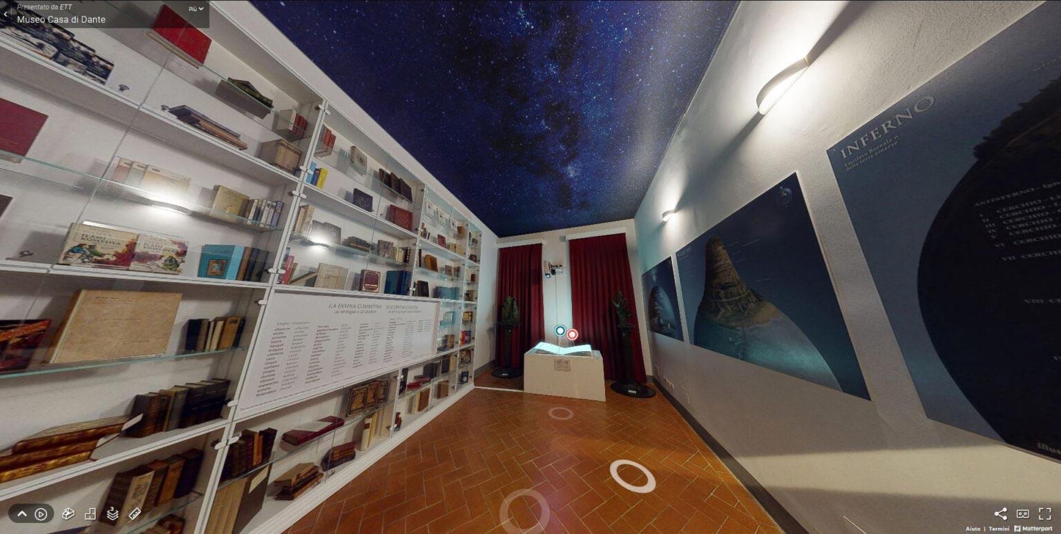 Una stanza del virtual tour presso il Museo casa di Dante