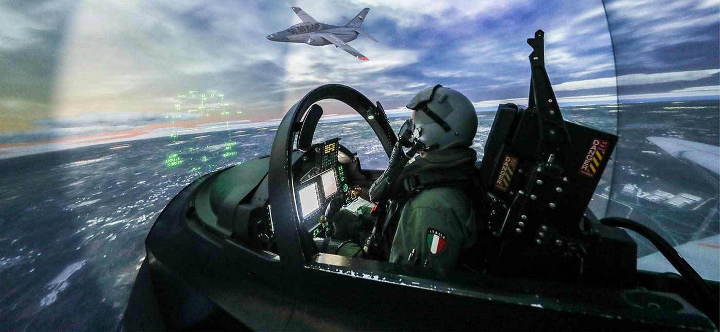 Pilota di Jet in volo